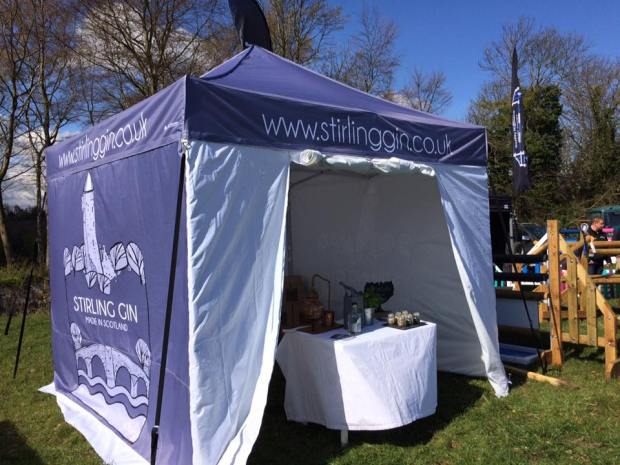 Stirling Gin Branded Gazebo